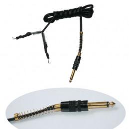 Silicon Clip Cord Kabel mit Klinkenstecker schwarz