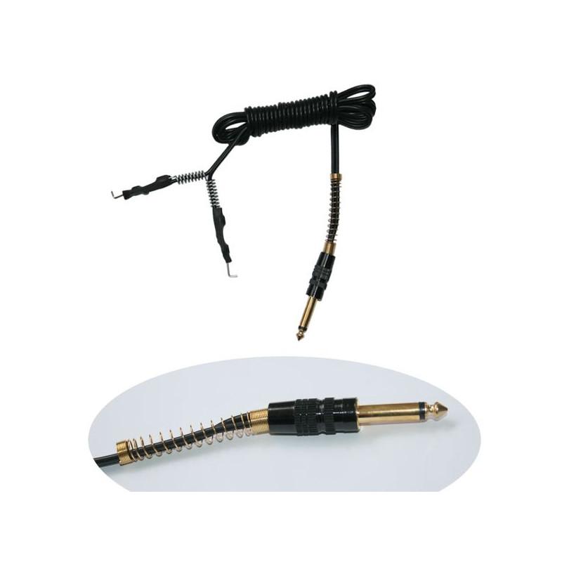 Silicon Clip Cord mit Klinkenstecker schwarz  Kabel Tattoobedarf