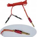 Silicon Clip Cord mit Klinkenstecker rot