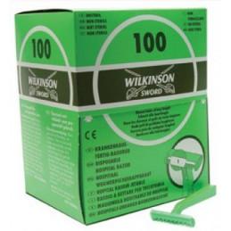 Wilkinson zweischneidig, Einweg Rasierer, 100 Stück  Verbrauchsartikel Tattoobedarf