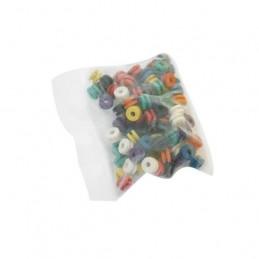 Nadelstangengummis, bunt gemischt, 100 Stück  Cover/ Gummis/ Zubehör Tattoobedarf
