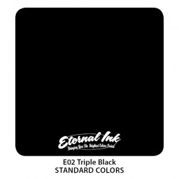 Eternal Ink - Triple Black, 30/ 120 ml Tattoofarbe Eternal Ink Standard Colors Tattoobedarf