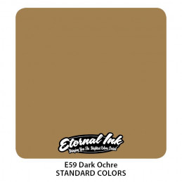 Eternal Ink - Dark Ochre, 30 ml Tattoofarbe *MHD 12/2021* Eternal Ink Standard Colors Tattoobedarf