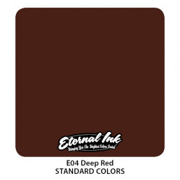 Eternal Ink - Deep Red, 30 ml Tattoofarbe *MHD 12/2021* Eternal Ink Standard Colors Tattoobedarf