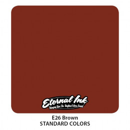 Eternal Ink - Brown, 30 ml Tattoofarbe Eternal Ink Standard Colors Tattoobedarf