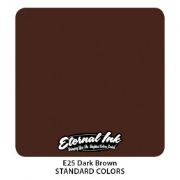 Eternal Ink - Dark Brown, 30 ml Tattoofarbe Eternal Ink Standard Colors Tattoobedarf