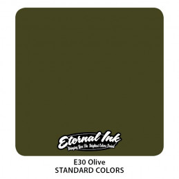 Eternal Ink - Olive, 30 ml Tattoofarbe *MHD 12/2021* Eternal Ink Standard Colors Tattoobedarf