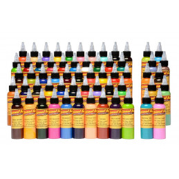 Komplettset mit 60 Eternal Ink Tattoofarben - Gold Set je 30ml Eternal Ink Basic Color Sets Tattoobedarf