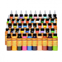 Set mit 50 Eternal Ink Tattoofarben - Silver Set je 30ml Eternal Ink Basic Color Sets Tattoobedarf