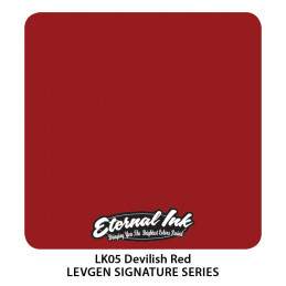 Eternal Ink Levgen - Develish Red, 30 ml Tattoofarbe Eternal Ink Levgen Signature Series Tattoobedarf