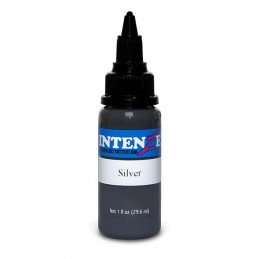Intenze Ink Silver, 29ml Tattoofarbe Intenze Ink Intenze Single Colors Tattoobedarf
