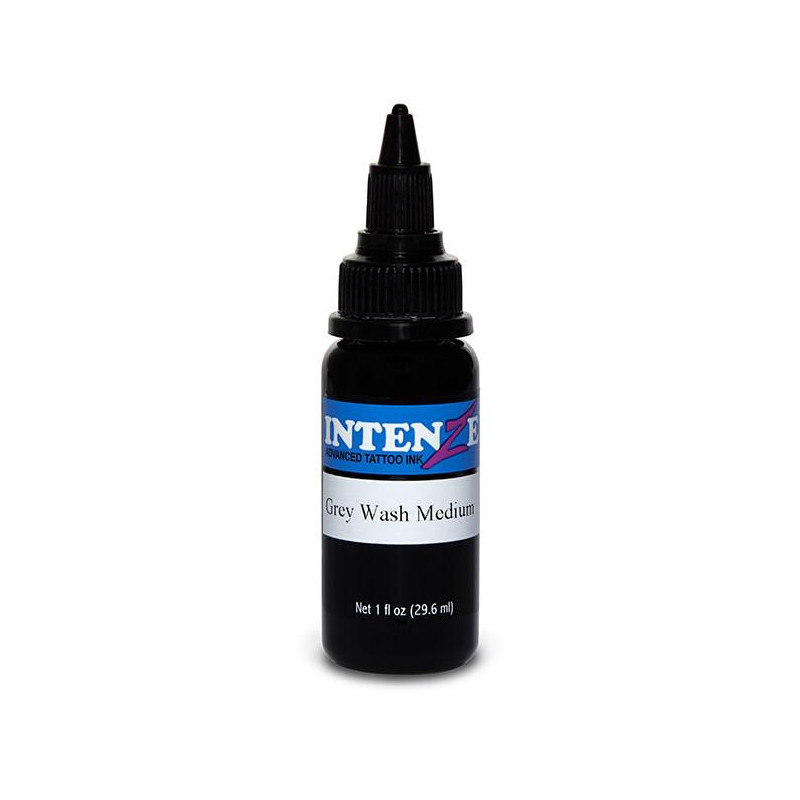 Intenze Ink Gray Wash Medium, 29ml Tattoofarbe Intenze Ink Intenze Single Colors Tattoobedarf