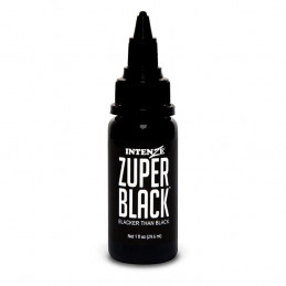 Intenze Ink Zuper Black, 29ml Tattoofarbe Intenze Ink Schwarze Farbtöne  Tattoobedarf