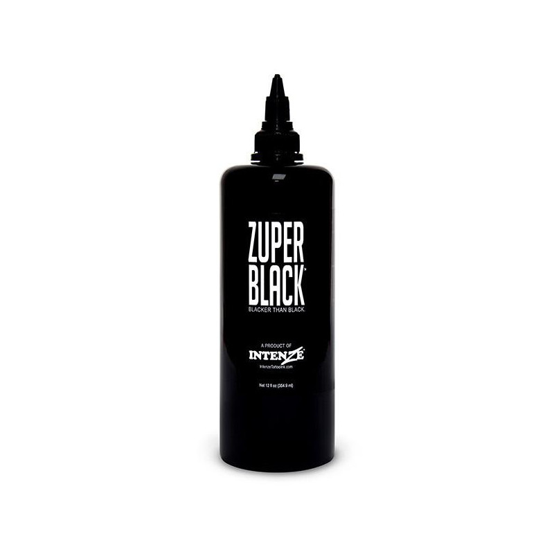 Intenze Ink Zuper Black, 355ml Tattoofarbe Intenze Ink Big, Sumi & Specials Tattoobedarf