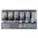 World Famous Ink - A.D. Pancho Pastel Grey Set 6 x 30 ml