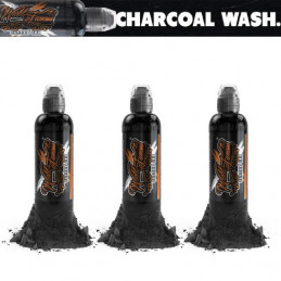 World Famous Ink Charcoal Greywash Set 3x 118ml World Famous Ink Schwarz & Grau Tattoobedarf