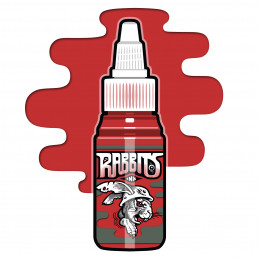Rabbits - Karsten Koch´s Basic Red, 35 ml Tattoofarbe  Rabbits Ink SALE% Tattoobedarf