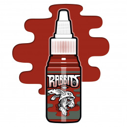 Rabbits - Karsten Koch´s Dark Red, 35 ml Tattoofarbe  Rabbits Ink SALE% Tattoobedarf