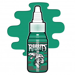 Rabbits - Karsten Koch´s Basic Green, 35 ml Tattoofarbe  Rabbits Ink SALE% Tattoobedarf