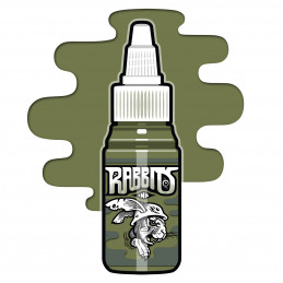 Rabbits - Robi Pena´s Military Green, 35 ml Tattoofarbe  Rabbits Ink SALE% Tattoobedarf