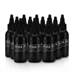Carbon Black Set 12 x 50 ml Tattoofarbe H.A.N. Carbon Black 50ml Tattoobedarf