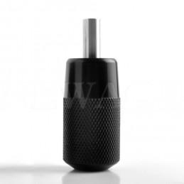 25mm ELITE Alu Griff schwarz mit Endrohr Elite Griffe für Standardnadeln Tattoobedarf