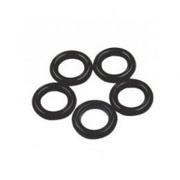 Federgummis, 5 Stück, schwarz