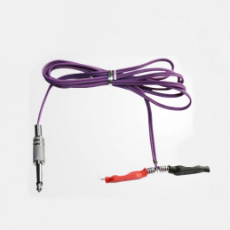 Silicon Clip Cord mit Klinkenstecker purple  Kabel Tattoobedarf