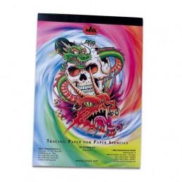 Transparent Papier, standard 50 Blatt  Papier Tattoobedarf