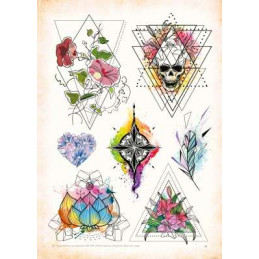 Geometric - Tattoo Vorlagen - Sketchbook Professional Style - Hardcover  Bücher / DVDs Tattoobedarf