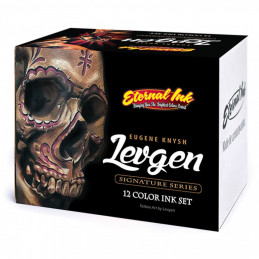 Komplettset mit 12 Eternal Ink Levgen Signature Series Tattoofarben je 30ml Eternal Ink Levgen Signature Series Tattoobedarf
