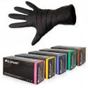 Elephant - Latex Handschuhe mit Lanolin & Vitamin E - 100 Stk., schwarz