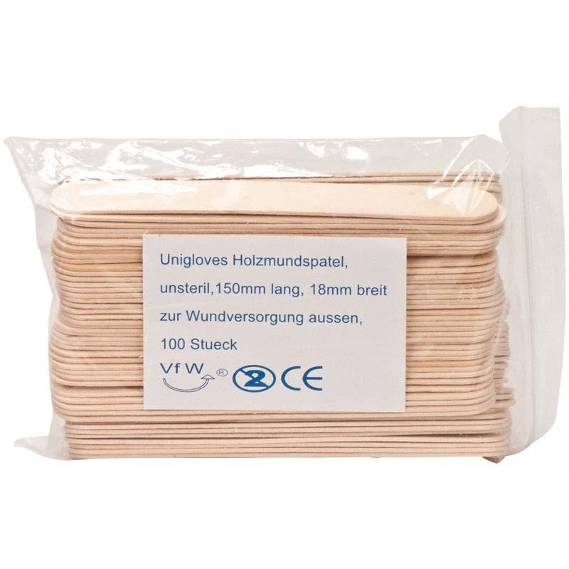 Holzmundspatel standard - 100 Stück Unigloves Verbrauchsartikel Tattoobedarf