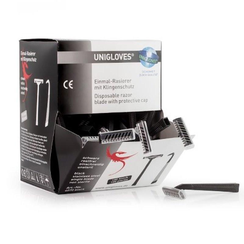 Unigloves Einweg Rasierer, 100 Stück einschneidig Unigloves Verbrauchsartikel Tattoobedarf