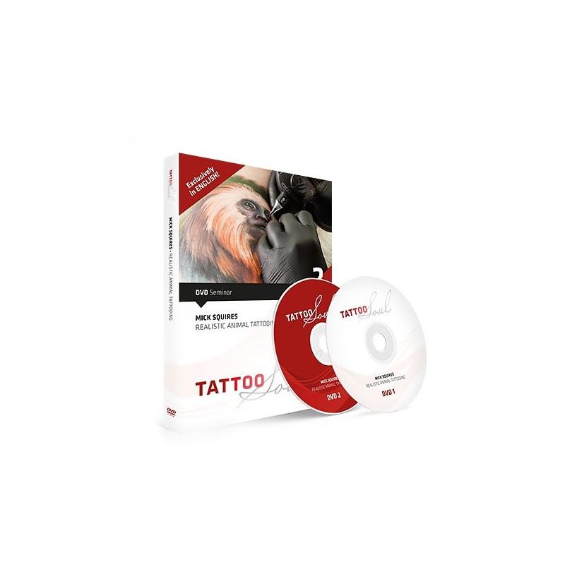 Mick Squires - Realistic Animal Tattooing, DVD  Bücher / DVDs Tattoobedarf