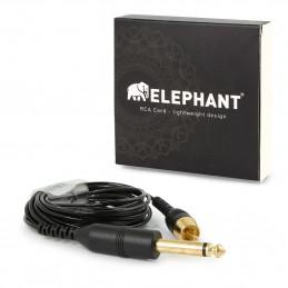 Elephant - Gerades Lightweight Cinch/RCA Kabel Elephant Kabel Tattoobedarf