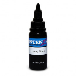Intenze Ink Lining Black, 29ml Tattoofarbe Intenze Ink Schwarze Farbtöne  Tattoobedarf
