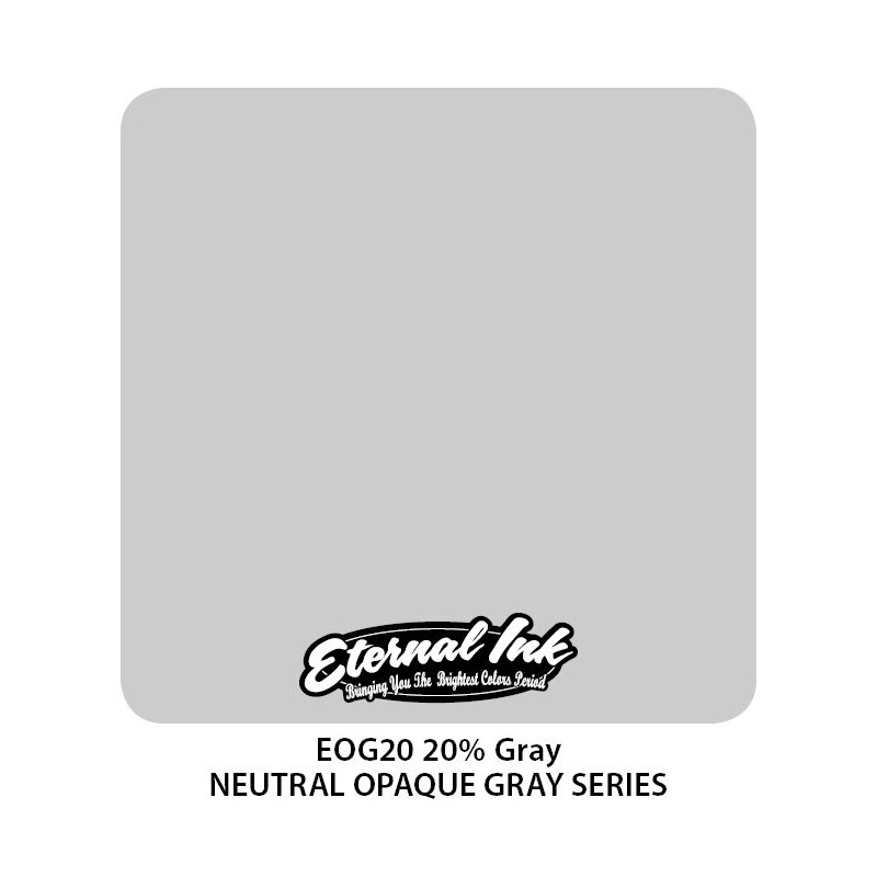 ETERNAL INK - 20% Neutral Gray 30 ml Tattoofarbe Eternal Ink Graue Farbtöne  Tattoobedarf