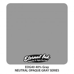 ETERNAL INK - 40% Neutral Gray 30 ml Tattoofarbe Eternal Ink Graue Farbtöne  Tattoobedarf