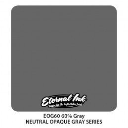 ETERNAL INK - 60% Neutral Gray 30 ml Tattoofarbe Eternal Ink Graue Farbtöne  Tattoobedarf