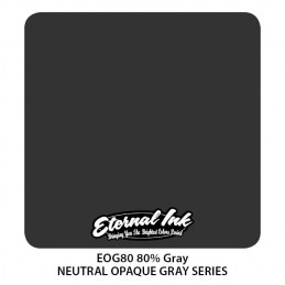 ETERNAL INK - 80% Neutral Gray 30 ml Tattoofarbe Eternal Ink Graue Farbtöne  Tattoobedarf