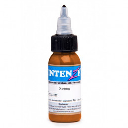 Intenze Ink Sienna, 29ml Tattoofarbe *MHD 03/2020* Intenze Ink Intenze Mark Mahoney Gangster Grey Tattoobedarf