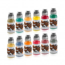 World Famous Ink - Jason Ackerman Serial Killer Set 12 x 29ml World Famous Ink Farben im Set Tattoobedarf