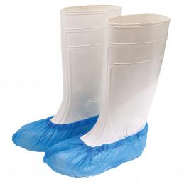 CPE Überschuhe gehämmert, blau, 100 Stück, Unigloves Unigloves Schutzkleidung Tattoobedarf