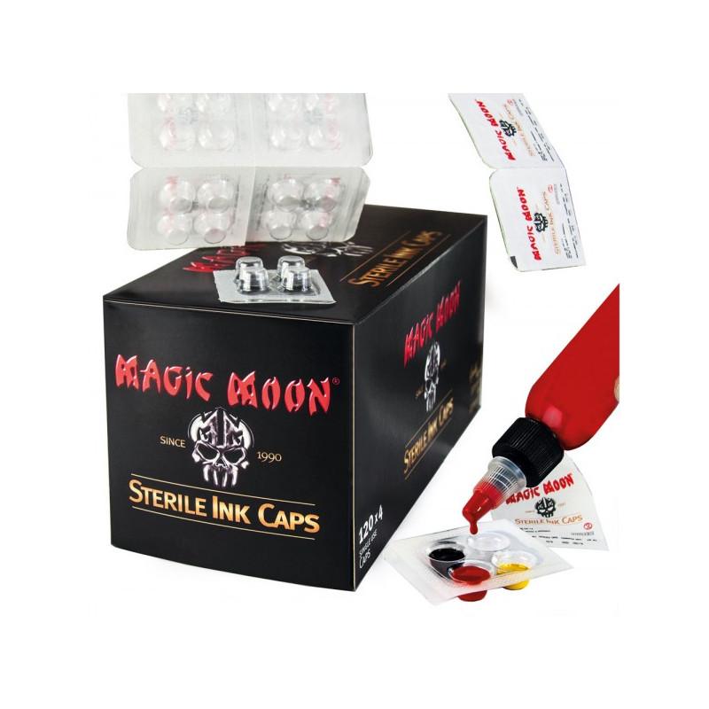 Sterile Ink Caps,120 x 4 Farbkappen Magic Moon Farbkappen & Co Tattoobedarf