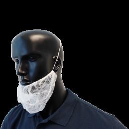 100 Bartmasken, Vlies, antistatisch Unigloves Schutzkleidung Tattoobedarf